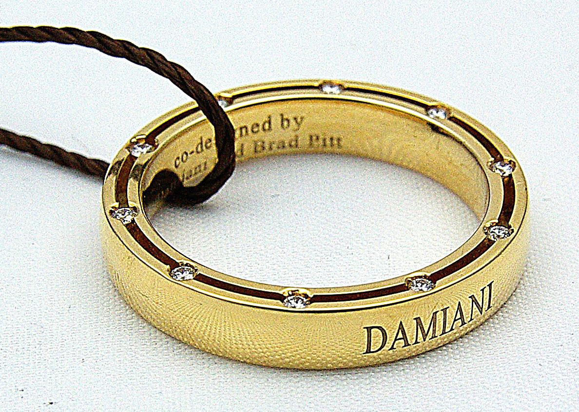 Pin Damiani Fedi Matrimoniali Oro Giallo D Side Brad Pitt on Pinterest