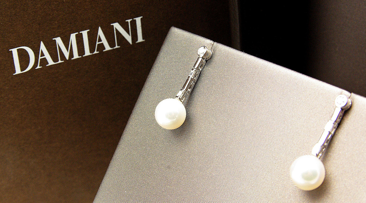 orecchini di perle damiani