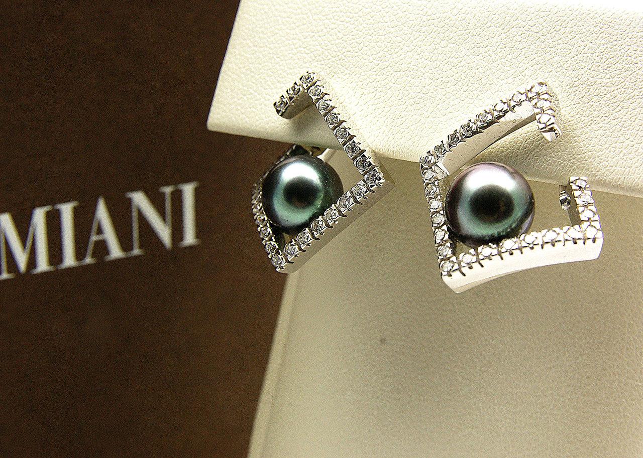 online store 32a95 7f42a Damiani. Orecchini perle Tahiti e brillanti.